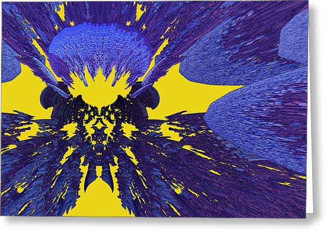 First Star Art By Jammer Greeting Cards - Pansy by jammer Greeting Card by First Star Art