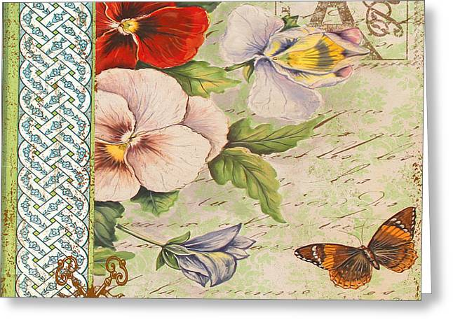 Pansy Garden-a Greeting Card by Jean Plout