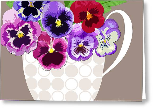 Valerie Lesiak Greeting Cards - Pansy Passion Greeting Card by Valerie   Drake Lesiak