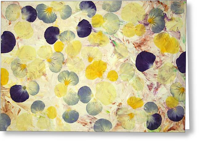 Blooms Mixed Media Greeting Cards - Pansy Petals Greeting Card by James W Johnson