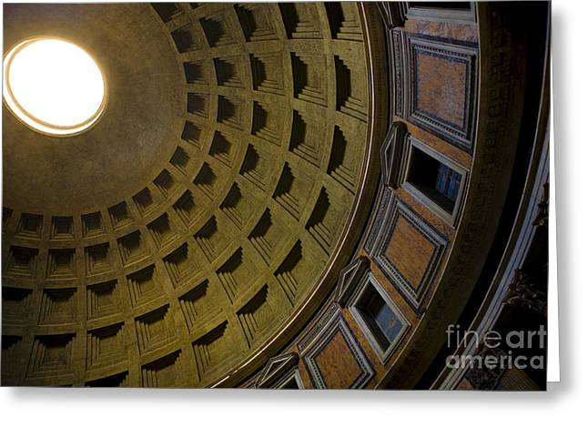 Pantheon Greeting Cards - Pantheon Dome Interior Greeting Card by Diane Diederich