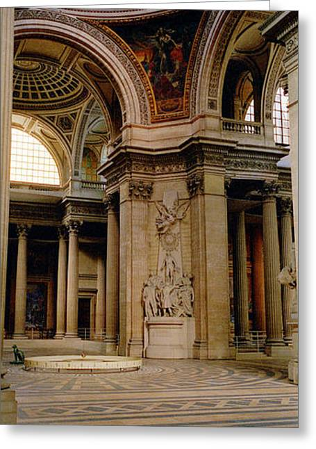 Pantheon Greeting Cards - Pantheon Interior Paris France Greeting Card by Panoramic Images
