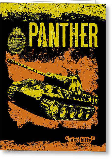 Tank Battalions Greeting Cards - Panther ausf A Greeting Card by Philip Arena