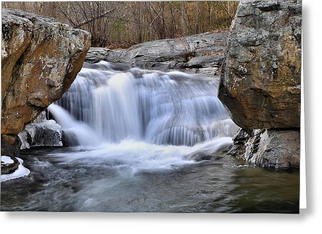 Trout Stream Landscape Greeting Cards - Panther Falls Greeting Card by Todd Hostetter