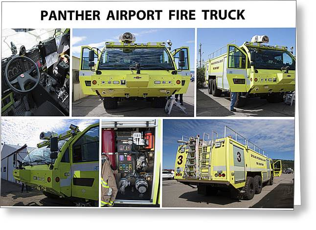 Spokane Greeting Cards - Panther Hi-tech Fire Truck Greeting Card by Daniel Hagerman