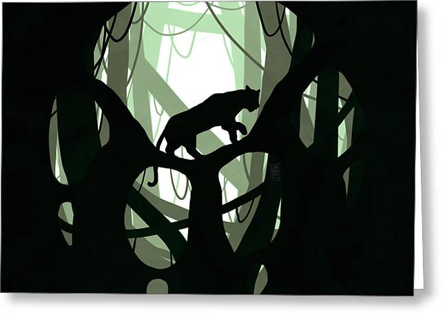 Climb Tree Greeting Cards - Panther Paw Greeting Card by Daniel Hapi