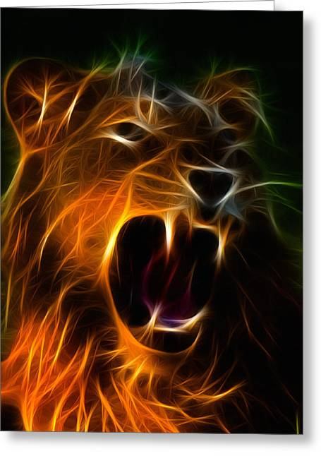 Male Domination Greeting Cards - Panthera leo Greeting Card by Taylan Soyturk