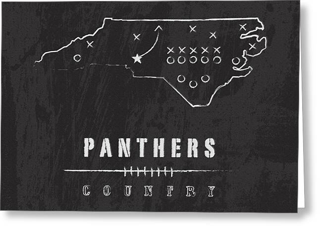 Panthers Country 2 Greeting Card by Damon Gray