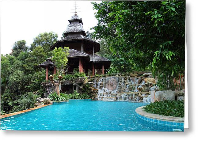 Spa Greeting Cards - Panviman Chiang Mai Spa and Resort - Chiang Mai Thailand - 011332 Greeting Card by DC Photographer