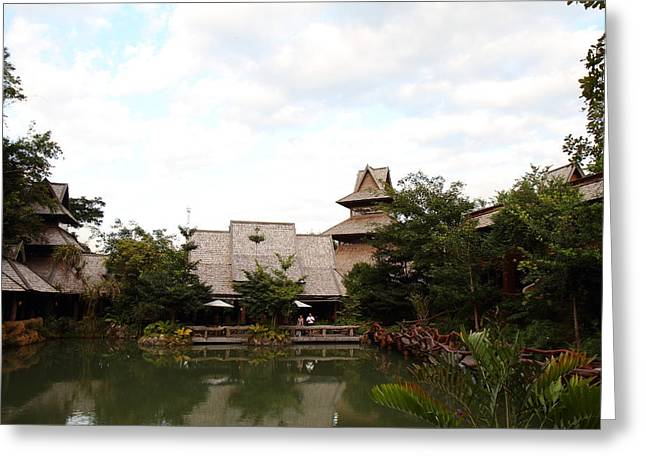 Spa Greeting Card featuring the photograph Panviman Chiang Mai Spa And Resort - Chiang Mai Thailand - 011350 by DC Photographer