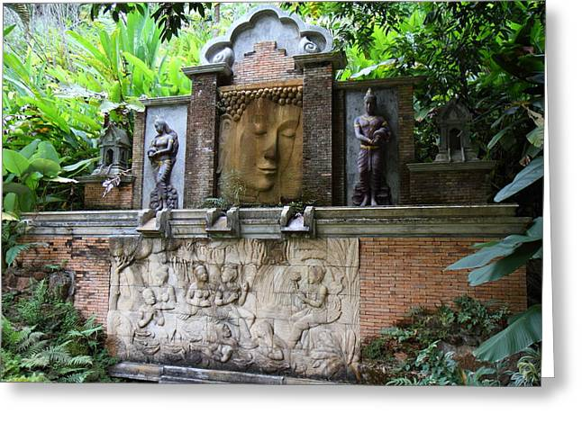 Spa Greeting Card featuring the photograph Panviman Chiang Mai Spa And Resort - Chiang Mai Thailand - 011356 by DC Photographer