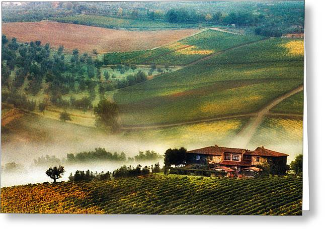 Chianti Digital Art Greeting Cards - Panzano in Chianti Greeting Card by John Galbo