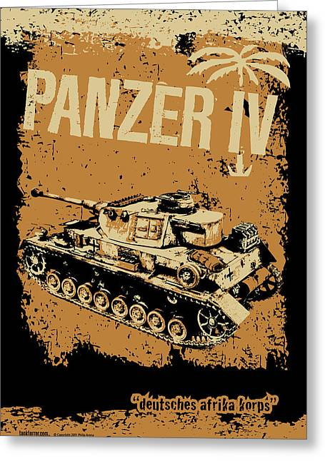 Tank Battalions Greeting Cards - Panzer IV F2 Greeting Card by Philip Arena