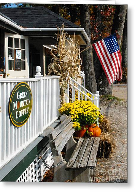 Geobob Greeting Cards - Papa Petes Country Kitchen Restaurant Diner Bennington Vermont Greeting Card by Robert Ford