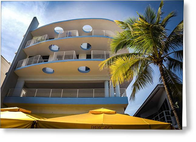 South Congress Greeting Cards - CONGRESS HOTEL of SOUTH BEACH Greeting Card by Karen Wiles