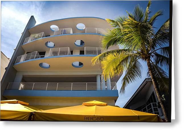 Congress Hotel Of South Beach Greeting Card by Karen Wiles