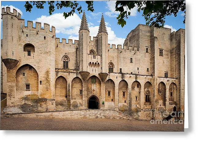 Papal Greeting Cards - Papal Castle in Avignon Greeting Card by Inge Johnsson