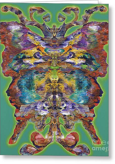 Butterflies Paintings Greeting Cards - Papalotl Series Vlll Greeting Card by Ricardo Chavez-Mendez