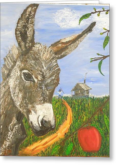 Shack Greeting Cards - Papas Last Apple Greeting Card by Randolph Gatling