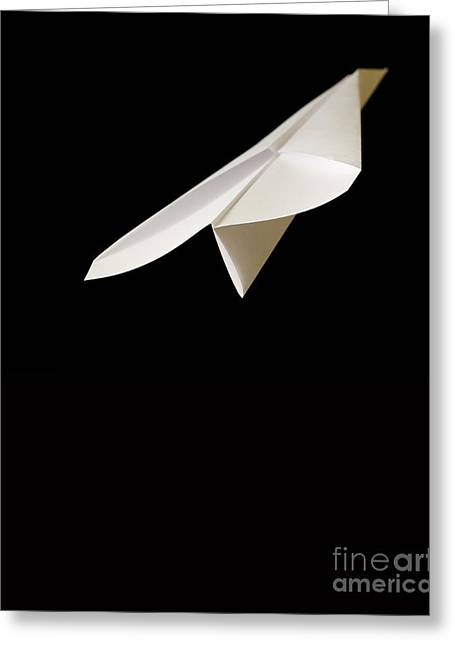 Rising Greeting Cards - Paper Airplane Greeting Card by Edward Fielding