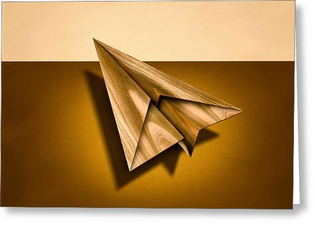 Paper Airplanes Greeting Cards - Paper Airplanes of Wood 1 Greeting Card by Yo Pedro