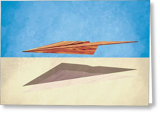 Glider Greeting Cards - Paper Airplanes of Wood 14 Greeting Card by Yo Pedro