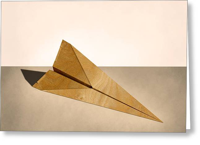 Glider Greeting Cards - Paper Airplanes of Wood 15 Greeting Card by YoPedro