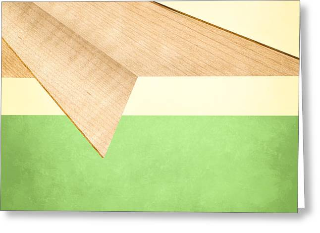 Glider Greeting Cards - Paper Airplanes of Wood 17 Greeting Card by Yo Pedro