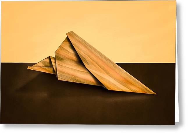 Fuselage Greeting Cards - Paper Airplanes of Wood 2 Greeting Card by Yo Pedro