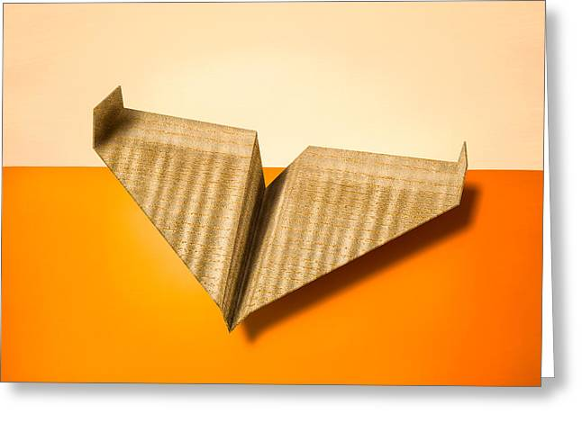Glider Greeting Cards - Paper Airplanes of Wood 8 Greeting Card by Yo Pedro