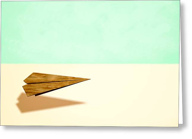 Paper Airplanes Greeting Cards - Paper Airplanes of Wood 9 Greeting Card by Yo Pedro