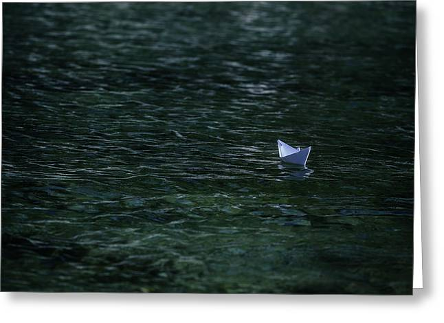 paper boat Greeting Card by Joana Kruse