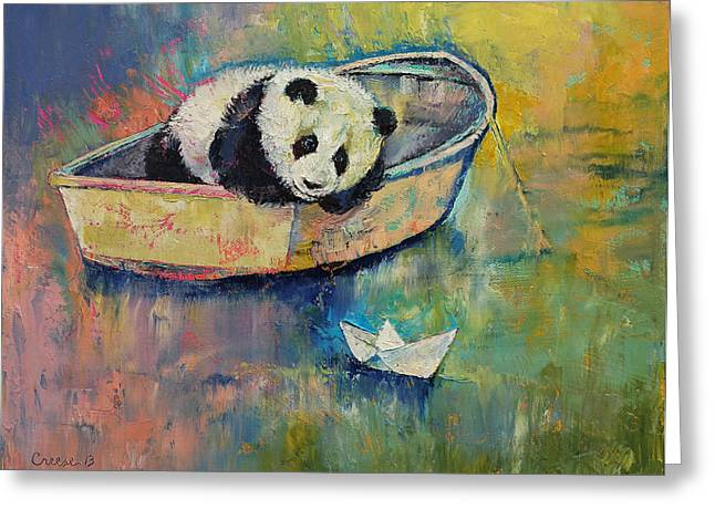 Bateau Greeting Cards - Paper Boat Greeting Card by Michael Creese