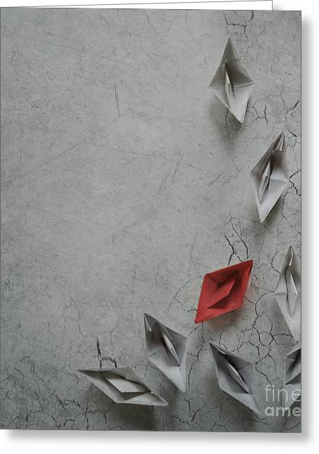 Paper Images Greeting Cards - Paper Boats Greeting Card by Jelena Jovanovic