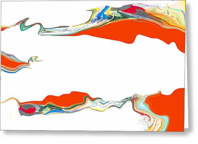 China Beach Mixed Media Greeting Cards - Paper Dreams Greeting Card by James David Mancini