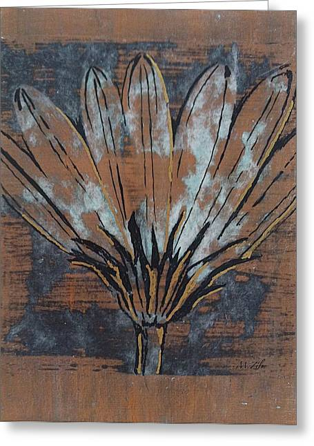 Paper Flower Greeting Card by Megan Washington