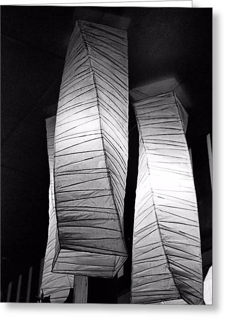 Paper Lampshades Greeting Card by Bob Wall