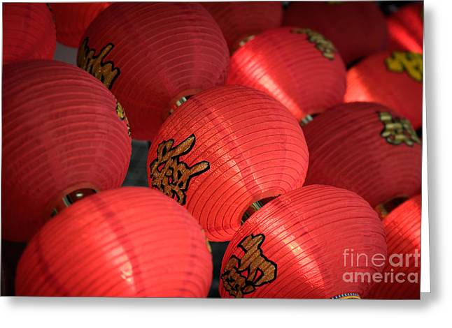 Singapore Greeting Cards - Paper Lanterns Greeting Card by Rod McLean