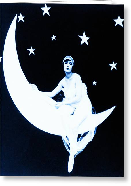 Paper Moon Greeting Cards - Paper Moon Greeting Card by Digital Reproductions
