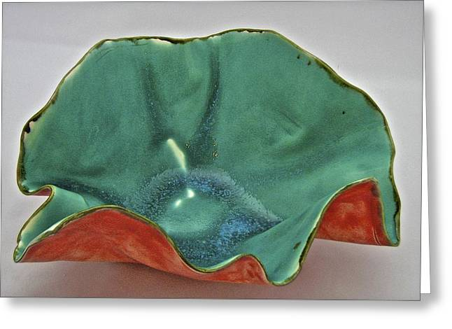 Porcelain Ceramics Greeting Cards - Paper-thin Bowl  09-007 Greeting Card by Mario Perron