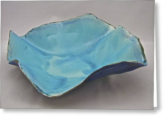 Porcelain Ceramics Greeting Cards - Paper-thin Bowl  09-012 Greeting Card by Mario Perron