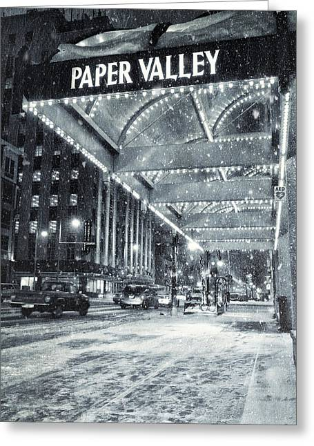 Downtown Appleton Photographs Greeting Cards - Paper Valley Greeting Card by Joel Witmeyer