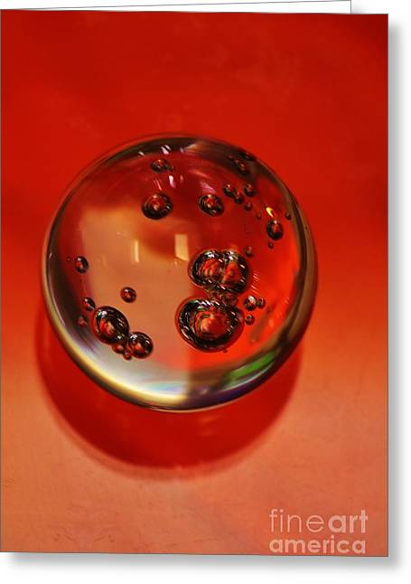 Paperweight Greeting Cards - Paperweight in Orange Greeting Card by Craig Wood