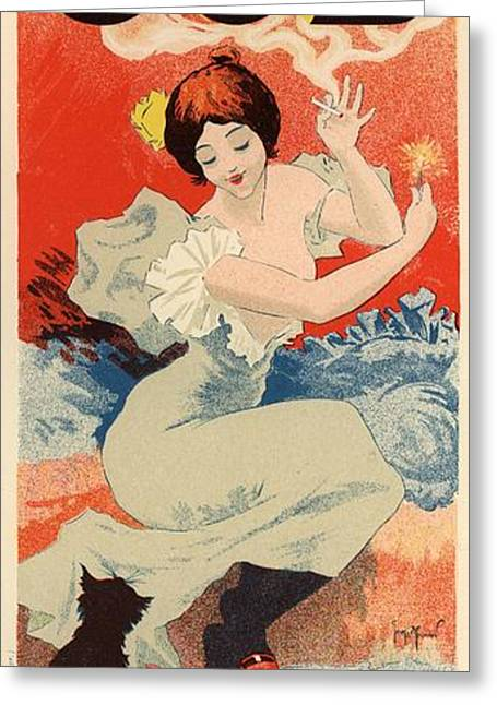 Belle Epoque Digital Greeting Cards - Papier a Cigarettes Job Greeting Card by Gianfranco Weiss