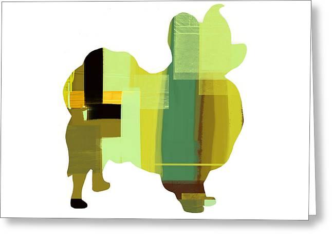 Papillion Greeting Card by Naxart Studio