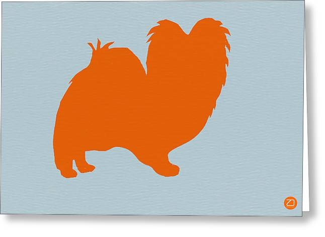 Small Dogs Greeting Cards - Papillion Orange Greeting Card by Naxart Studio