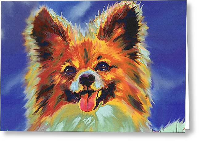 Papillion Puppy Greeting Card by Jane Schnetlage
