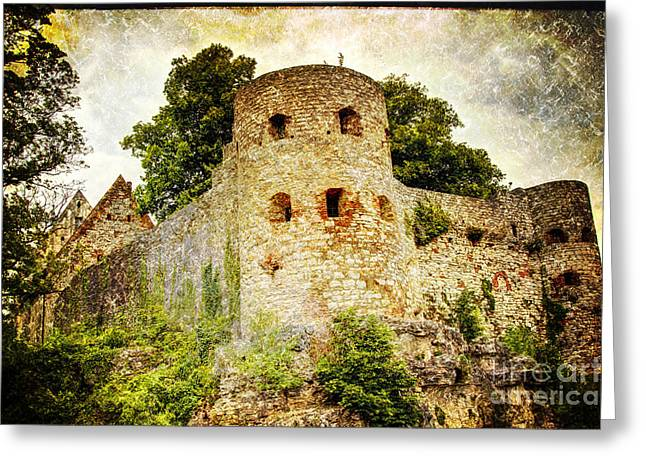 Gothic Germany Greeting Cards - Pappenheim Castle Greeting Card by Heiko Koehrer-Wagner