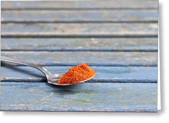 Teaspoon Greeting Cards - Paprika Greeting Card by Tom Gowanlock