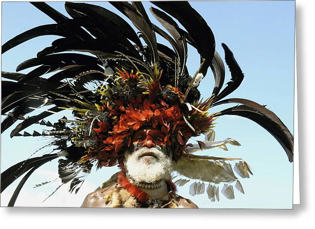 Locals Only Greeting Cards - Papua New Guinea, Portrait Greeting Card by Jeremy Hunter